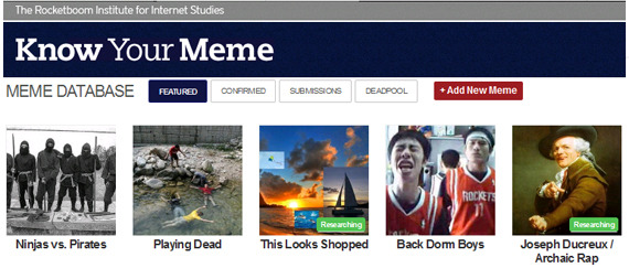 Know Your Meme website screenshot